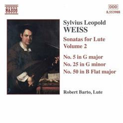 WEISS - Sonatas For Lute. Vol.2 (Nos. 5, 25, 50)