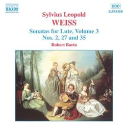 WEISS - Sonatas For Lute. Vol.3 (Nos. 2, 27, 35)
