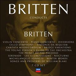 3 - 1971 - Benjamin Britten Conducts Britten (Volume 4). CD 3 - Prelude And Fugue • Simple Symphony • Bridge Variations • The Young Person's Guide To The Orchestra